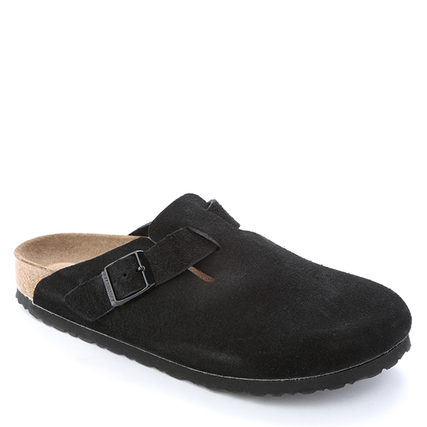 180f02d6c9c2 BIRKENSTOCK - BOSTON SOFT - BLACK SUEDE - Plaza Shoe Store